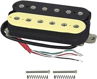 FLEOR Electric Guitar Humbucker Pickups Neck Alnico 5 Pickup (Cream+Black)