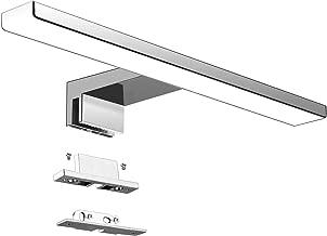 Lámpara de Espejo Baño LED 5W 230V 500lm Aourow,a Prueba de Agua IP44 30cm,3 en 1,Fije en el Espejo +en el Gabinete+en la Pared,Luz Blanca Neutra 4000K,Contra Niebla Acero Inoxidable,300x105x40mm