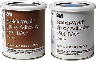 3M(TM) Scotch-Weld(TM) Epoxy Adhesive 3501 Gray Part B/A, 1 Pint Kit, 6 per case