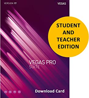 MAGIX Vegas Pro Suite 17 Academic for Students & Teachers (Download Card) - Professional video & audio editing, disc authoring & high-end plug-ins
