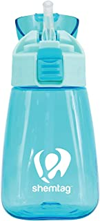 Shemtag Toddler Water Bottle- Kids Water Bottle-  11.5oz (350ml) with staw and lid BPA-FREE