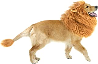 GABOSS Lion Mane Costume for Dog, Dog Lion Wig for Dog Large Pet Festival Party Fancy Hair Dog Clothes