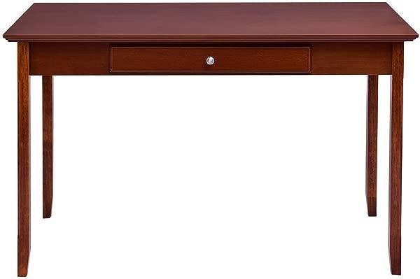 Walnut MDF Board Console Table Writing Desk W Slide Out Drawer
