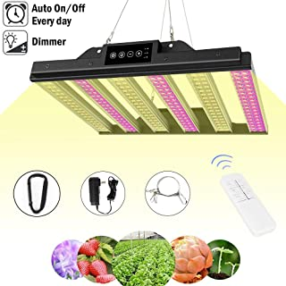 1000W LED Grow Light, Dimmable Plant Light Panel with Auto ON/Off Timer, Upgraded Full Spectrum Grow Light Bulbs for Indoor Plants, Sunlike Growing Lamp for Greenhouse Hydroponic Herbs Flowers Veg