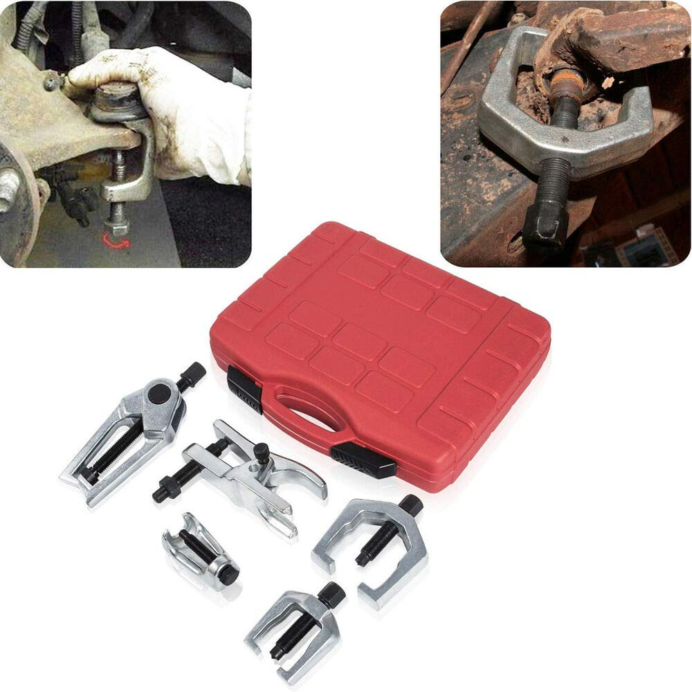 GOGOLO 5PCS Front End Service Tool Set Pitman Arm Ball Joint Separator Tie Rod End Puller Removal Tool Kit