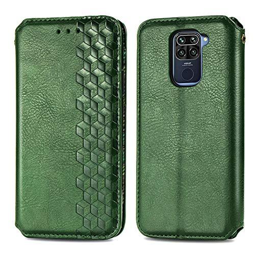 Trugox Funda Cartera para Xiaomi Redmi Note 9 de Piel con Tapa Tarjetero Soporte Plegable Antigolpes Cover Case Carcasa Cuero para Xiaomi Redmi Note 9 - TRSDA120746 Verde
