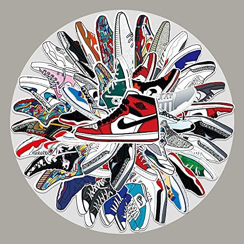 JZLMF 50 Zapatillas de Deporte de la Marca Tide, Pegatinas de Graffiti, Maleta con Ruedas para Equipaje, portátil, Scooter, Nevera, Pegatinas Decorativas