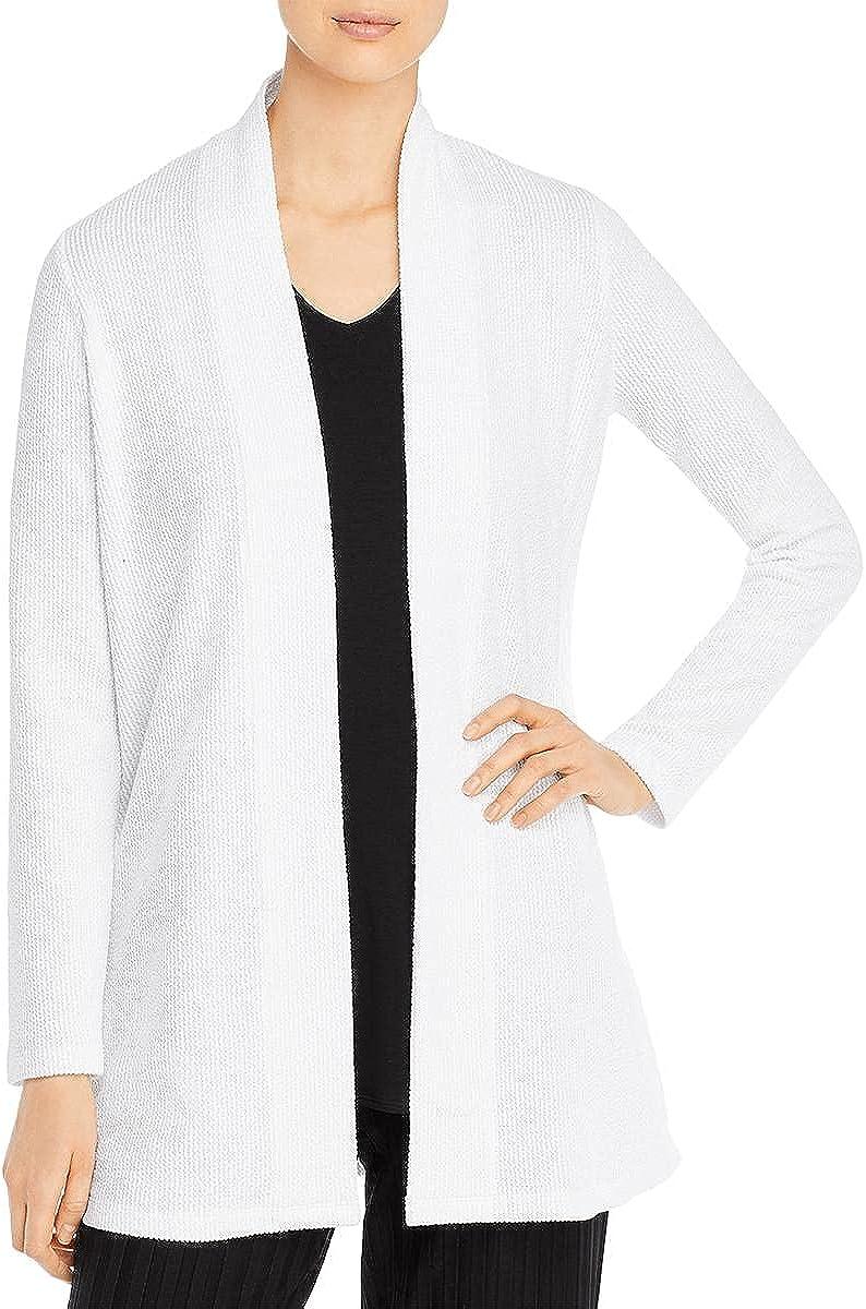 Eileen Fisher Womens Textured Open Front Jacket
