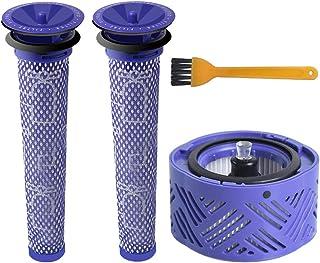 ABC life Post Motor Filtro V6 & 2 Pre Hepa Filtro V6 V7 V8, Kit de Filtro de Repuesto para Dyson V6 Serie, Lavable y Reutilizable # DY-966912-03 (Pack de 4)