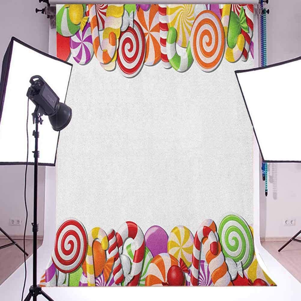 8x12 FT Sloth Vinyl Photography Background Backdrops,Sloth Animal Outline Figure on Branch with Ornate Details Swirled Elements Background for Selfie Birthday Party Pictures Photo Booth Shoot