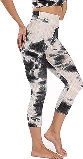 niyokki Workout Leggings Yoga Pants for Women, Tie Dye Booty Lifting Leggings Tummy Control Cropped Athletic Leggings