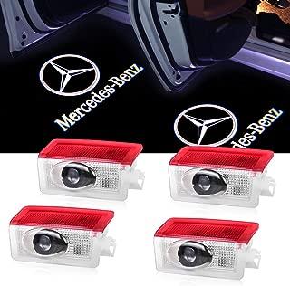 Car Door Logo Lights Projector LED Ghost Light 3D Shadow Lights for Mercedes Benz A/B/E/W176/W246/W212 Series Car Accesories Door Lights Welcom Lamp Puddle Lights4 Pack
