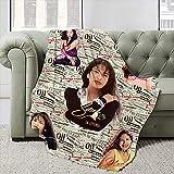 Soft Warm Fleece Blanket Fashion Queen Size Micro Fleece Blanket Anti-Pilling Lightweight Blanket for Living Room-50x40