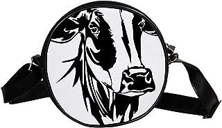 Coosun Umhängetasche mit Kuhmotiv, Bauernhof, Rindertiere, runde Umhängetasche für Kinder und Damen