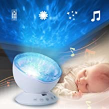 LEDMOMO Sleep Projection Led Night Light Lamp with 7 Lighting Mode Remote Control, Relaxing Light Show for Baby Kids and A...