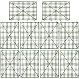 SOMIER 10Pcs Flowers Wall Frame, Plastic Fences Frames for Plant Wall Arches Backdrop, DIY Artificial Flower Grid Panel for Bridal Baby Shower Wedding Party Event Home Decor(308 Fixing Barbs)