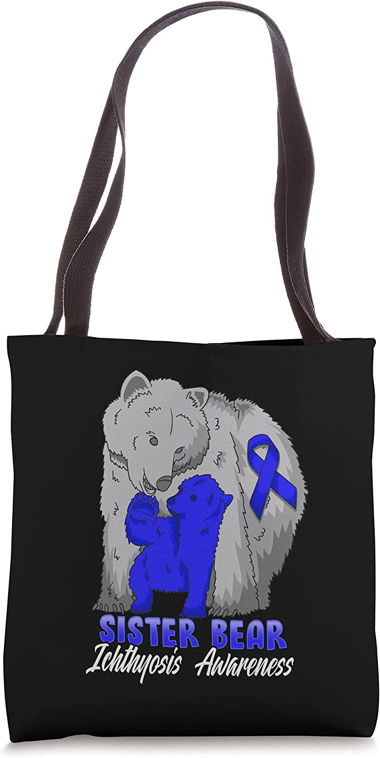 Ichthyosis Child Awareness Discount mail Colorado Springs Mall order Mama Bear Tote Support Ribbon Bag
