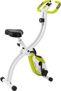 Ultrasport ev egzersiz aleti F-Bike, LCD ekran, katlanabilir ev egzersiz aleti, opt. Sırtlıklı, ayarlanabilir direnç seviy...