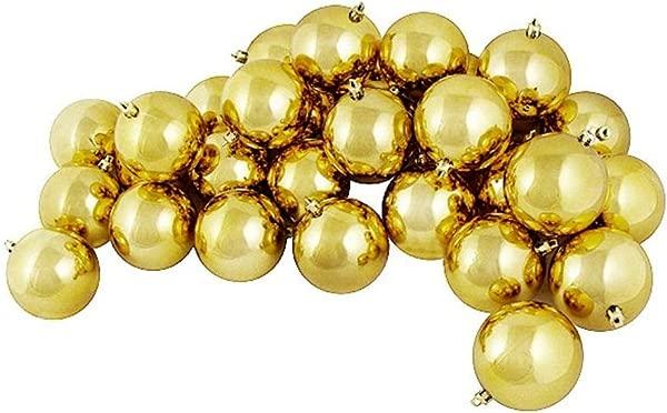 Northlight 32 Count Shatterproof Christmas Ball Ornaments 3 25 80mm Shiny Vegas Gold
