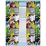 Character World Official Marvel Comics Curtains | Marvel Comics Design Children's Bedroom Curtains | Perfect For Any Children's Bedroom (72 inch)