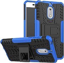 Case for Nokia 6 Case Cover,Case for Nokia 6 Arte Black Case Shockproof Mobile Phone Case Stand Blue