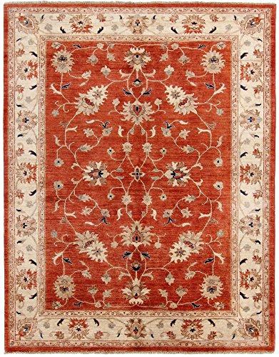 Carpetfine: Ziegler Teppich 176x238 Rot - Handgeknüpft - Ornament