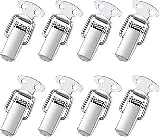 DECARETA 8 Stück Spannverschluss Edelstahl Haspe Kistenverschluss Silber Hebelverschluss..