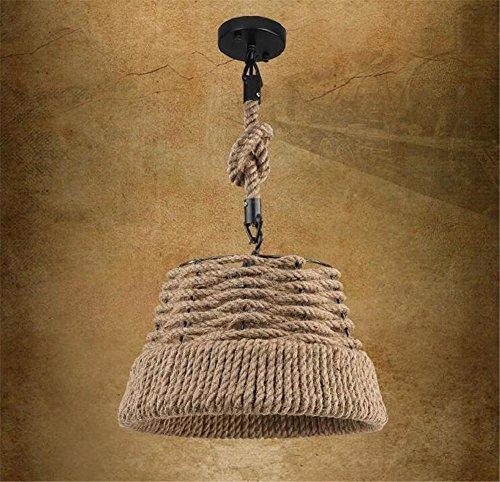 H&M Indoor Leuchten Kronleuchter Hanfseile Kronleuchter Anhänger Industrial Vintage Style Schlafzimmer Wohnzimmer Gartendekoration Kreative Strohhut Deckenleuchten No Lampen 220V