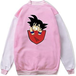 VJJ AIDEAR Pocket Saiyan Baseball Uniform Jacket Sport Coat Kids Long Sleeve Hoodie Sportswear Black
