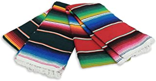 Five 5 Large Authentic Mexican Sarape Saltillo Blanket Throw Yoga Mexico Wholesale Pack *000203*