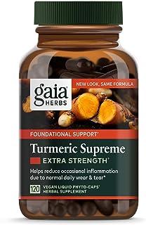 Gaia Herbs Turmeric Supreme Extra Strength 120 Liquid Phyto-Capsules (2 pack)