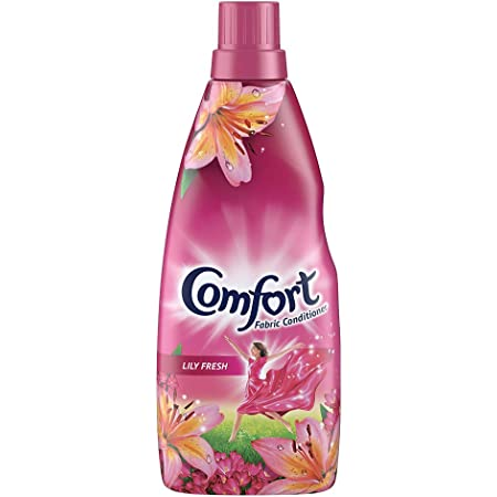 Comfort After Wash Lily Fresh Fabric Conditioner (Fabric Softener) - For Softness, Shine And Long Lasting Freshness, 860 ml