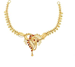 P. C. Chandra Jewellers Regular Collection 22k (916) Yellow Gold Choker Necklace for Women