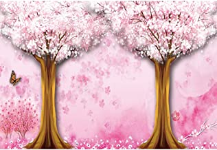 CSFOTO 8x6ft Cherry Blossom Backdrop Spring Scenery Photography Background Butterfly Flowers Wedding Newlyweds Couples Girl Portrait Shooting Bridal Shower Room Decoration Wallpaper