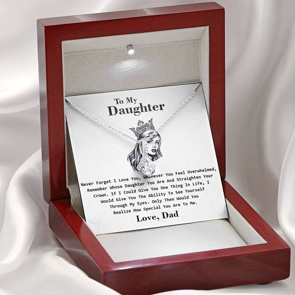 Japan Maker New Dad Award to Daughter Straighten Necklace from