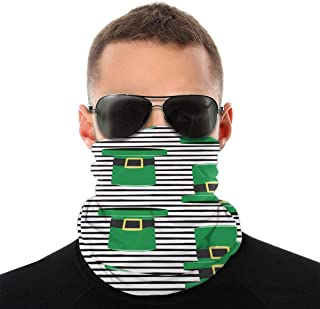 Nother St Patricks Day Leprechaun hatt grön svart vindpaus bandana halsduk tvättbar dammmask rånarluva ansikte mun