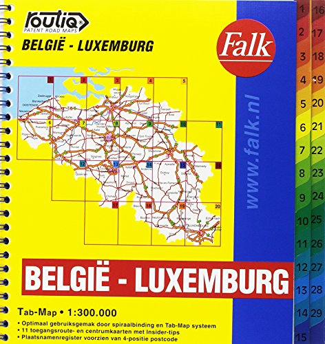 Routiq Belgie / Luxemburg tab map