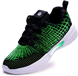 PEAK Fiber Optic LED Light Up Shoes for Boys Girls Women Men USB Charging Fashion Sneaker