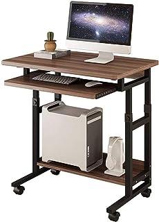 مكتب كمبيوتر للمساحات الصغيرة مكتب كمبيوتر محمول طاولة مكتب مكتب مكتب مكتب أثاث المنزل مع لوحة مفاتيح منزلقة (اللون: C)