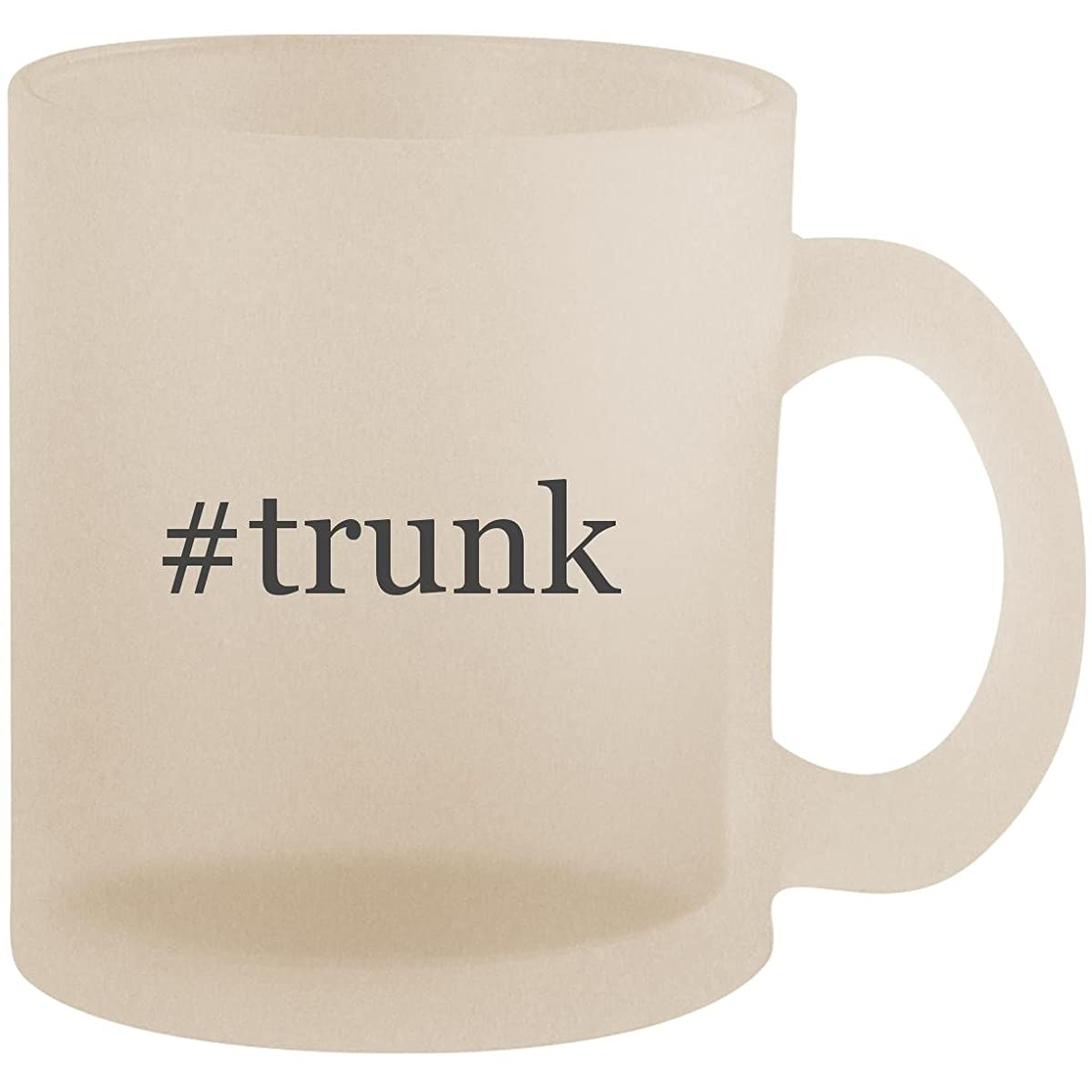 #trunk - Hashtag Frosted 10oz Glass Coffee Cup Mug