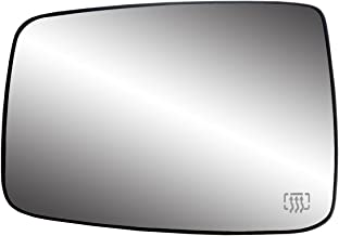 Fit System 33244 Dodge RAM Left Side Heated Power Replacement Mirror Glass with Backing Plate