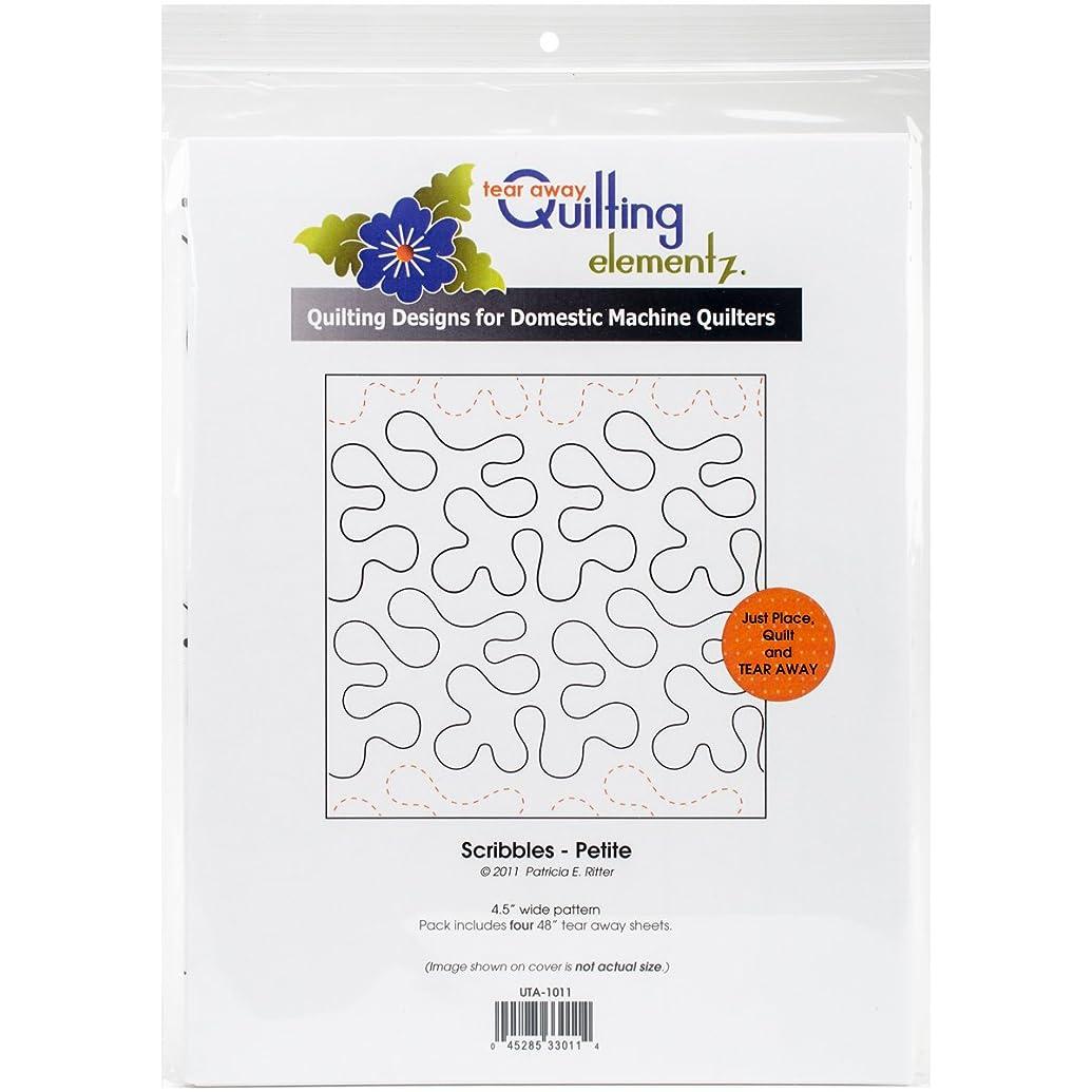 Quilting Creations Scribbles-Petite, 4-1/2 Inch Rows UTA-1011 Urban Elementz Tear Away, 4 Pack