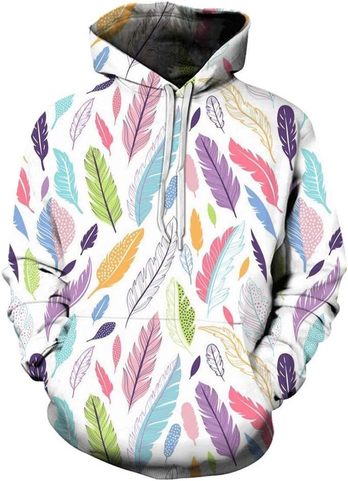 MNmkjgfgj Pullover 3D Feather Leisure Soft Outwear Simple Design Pullover Men (Color : A04, Size : Medium)