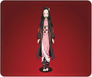Anime Demon Slayer Mouse Pad ,Kamado Tanjirou Nezuko Waterproof Non-Slip Mouse Mat with Stitched Edges for PC, Laptop(11.8...
