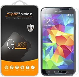 (2 Pack) Supershieldz for Samsung (Galaxy S5 Mini) Tempered Glass Screen Protector, Anti Scratch, Bubble Free