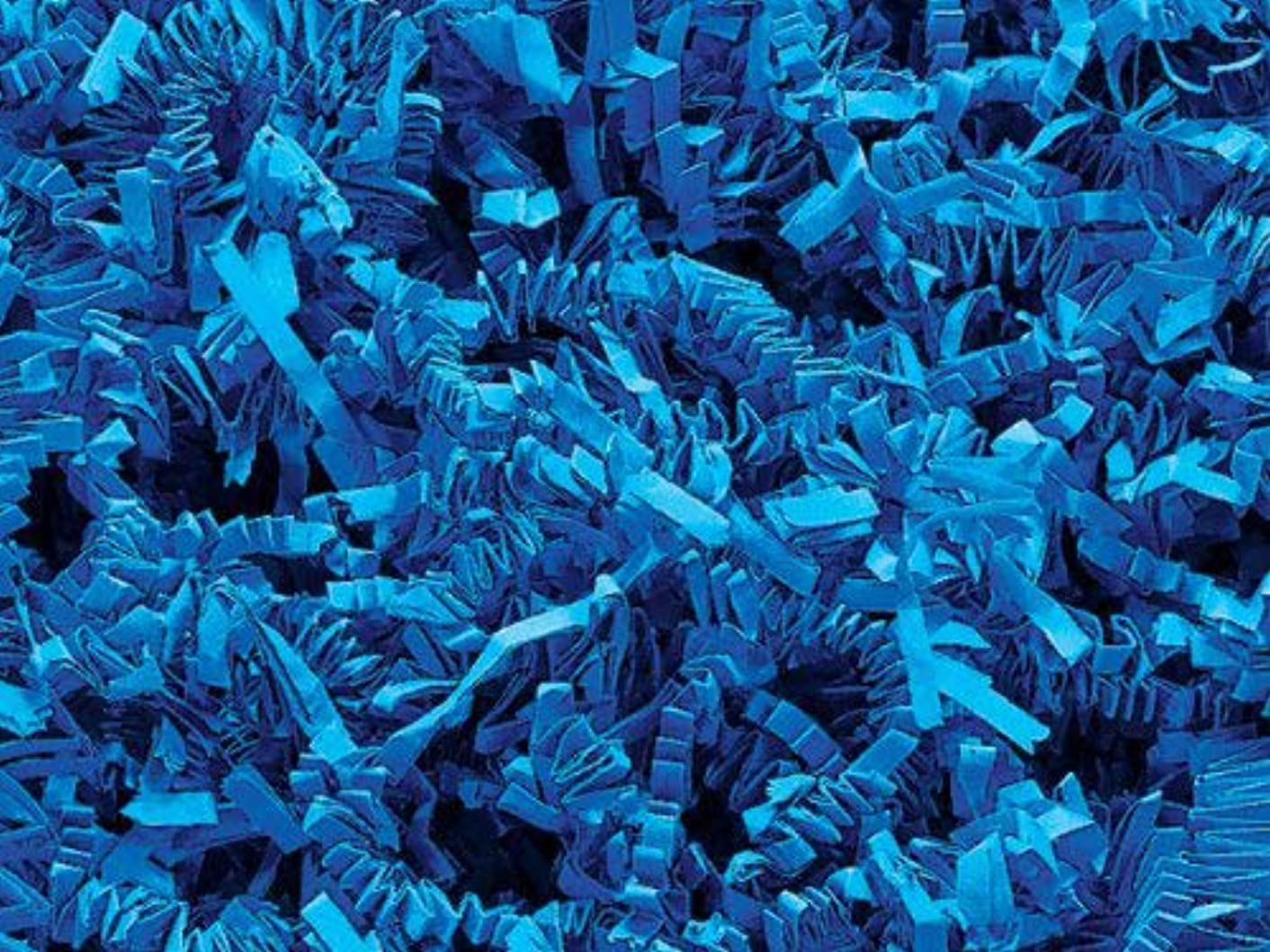Crinkle Cut Paper Shred - Sky Blue (1/2 LB)