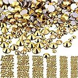 3456 Stücke Nagel Kristalle AB Nagel Kunst Strasssteine Runde Perlen