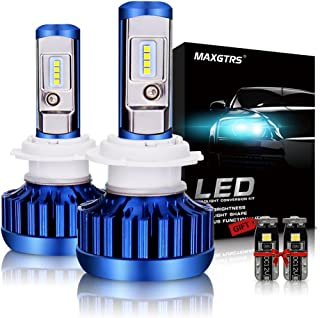 MAXGTRS 70W H7 LED Headlight Bulb CSP Chips All-in-One Conversion Kit 8000LM 6000K Cool White LED Headlamps - 2 Yr Warranty