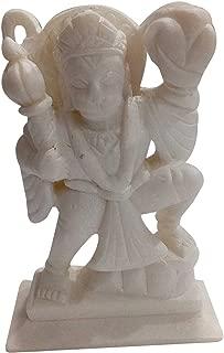 Pure Marble Art Lord Hanuman Ji Statue 5 inch Handmade Home Decor | Made by Indian Rural Artisan