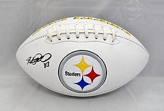 Heath Miller Signed Football - Logo Witnessed Auth - JSA Certified - Autographed Footballs